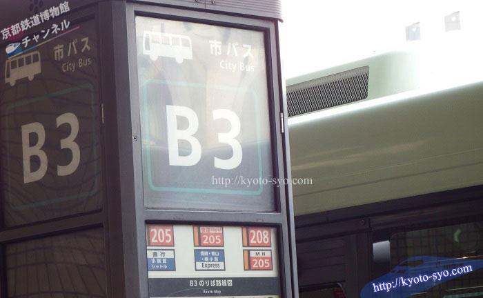 市バスのバス停