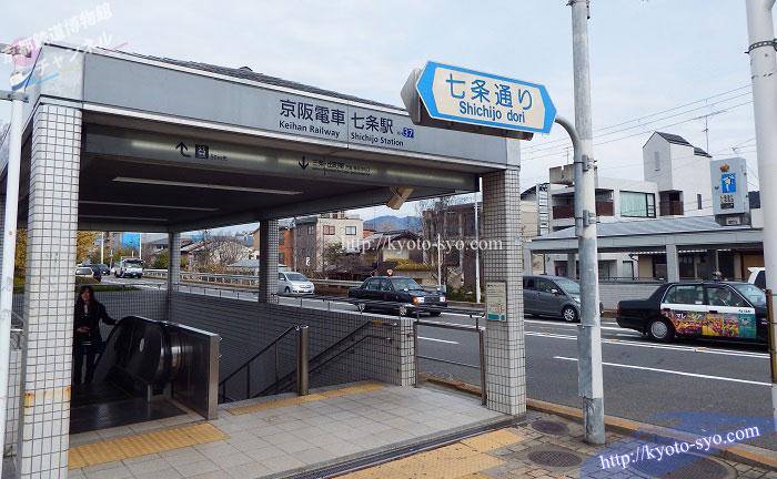 京阪七条駅の入口