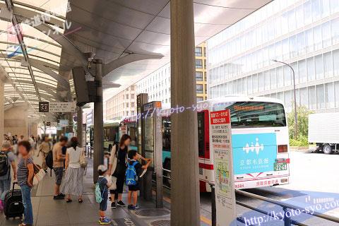 京阪京都交通バスの乗り場