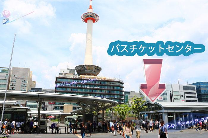 京都駅前のバスロータリー