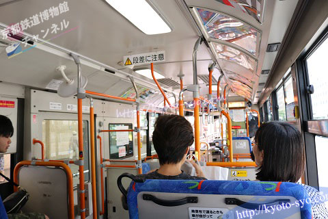 京阪京都交通バスの車内