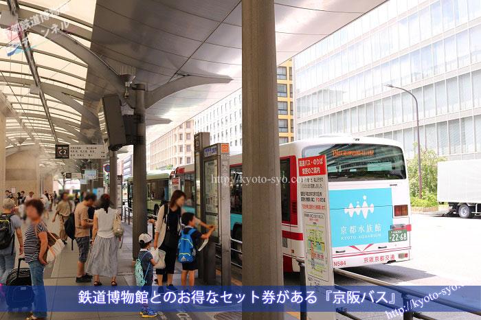 京都駅の京阪バスのりば