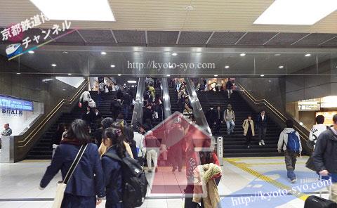 京都駅の構内