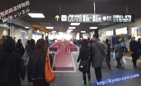 京都駅の南北自由通路