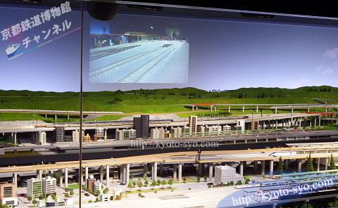 鉄道ジオラマのスクリーン