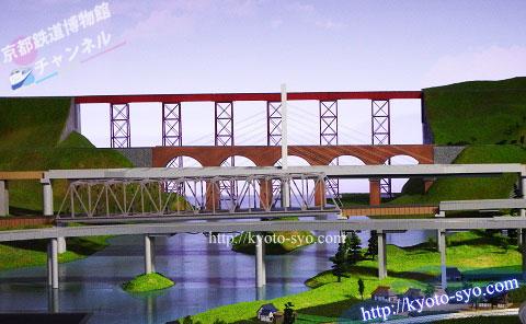 余部橋梁のジオラマ