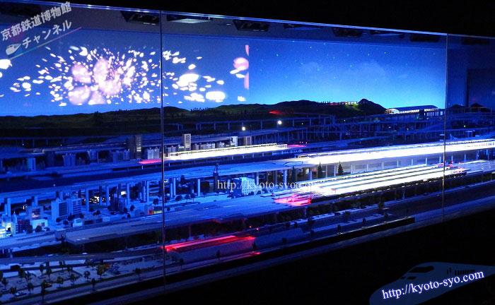 京都鉄道博物館の鉄道ジオラマの全体写真