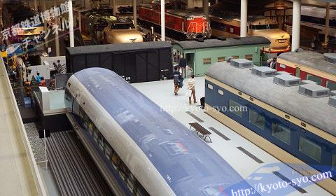 2階から見た500系新幹線
