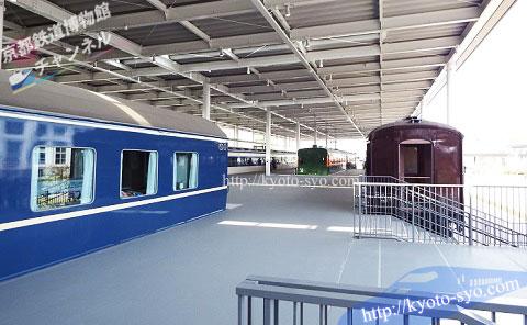 京都鉄道博物館のブルートレイン