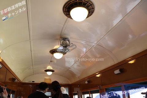 スシ28形301号車の扇風機