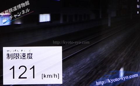 運転シミュレータの制限速度の画面