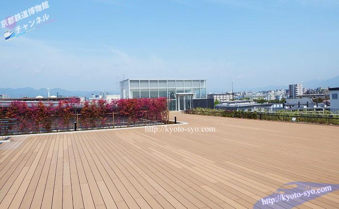 京都鉄道博物館のスカイテラス