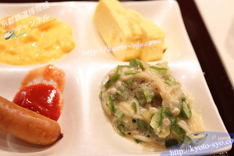 オクラと山芋、梅肉の和えもの