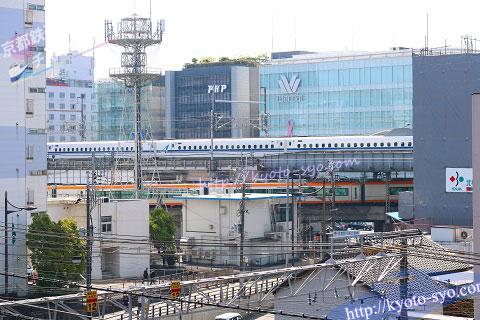 部屋から見える新幹線や近鉄特急