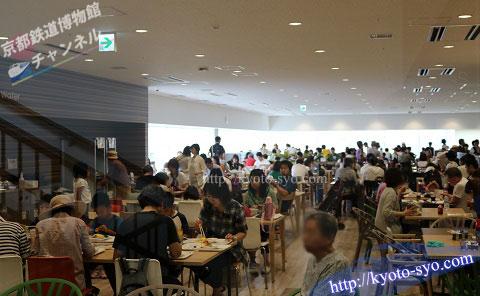 京都鉄道博物館のレストランの混雑