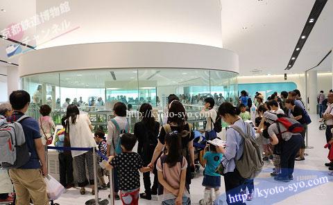 京都鉄道博物館の安全運転体験コーナーの混雑