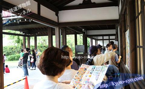 京都鉄道博物館のミュージアムショップの順番待ち