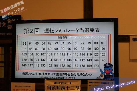 平日の運転シミュレータの当選発表