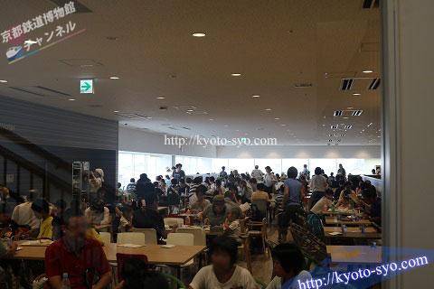 京都鉄道博物館のレストランの混雑状況
