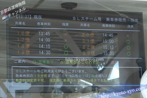 SLスチーム号の空席状況