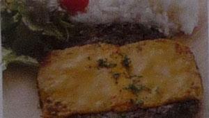 濃厚チェダーチーズハンバーグプレート