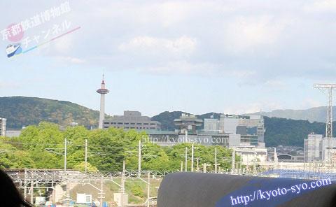 窓から見える京都タワー
