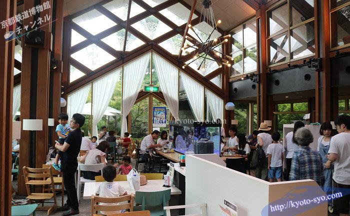 京野菜レストラン梅小路公園の店内