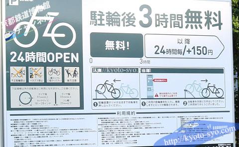 駐輪場の料金表