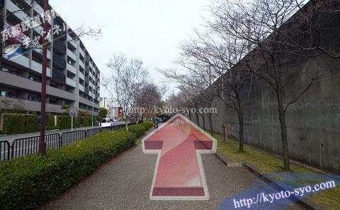 京都鉄道博物館への道