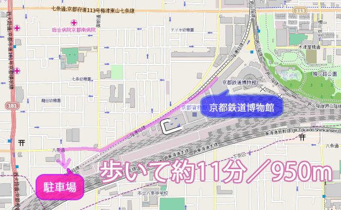 京都鉄道博物館の周辺の地図