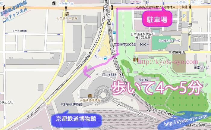 京都鉄道博物館周辺の地図