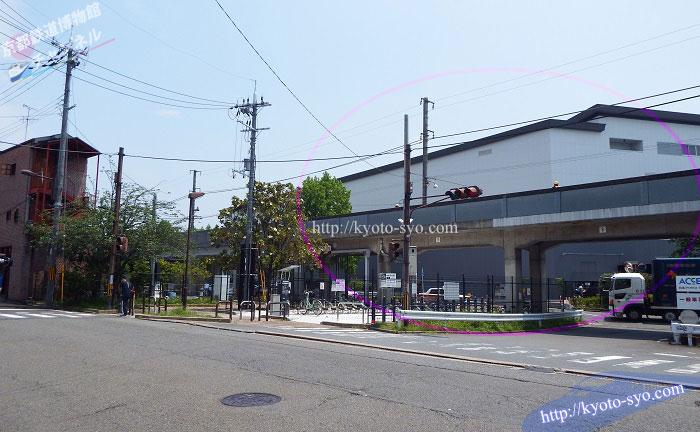 京都鉄道博物館周辺の入口