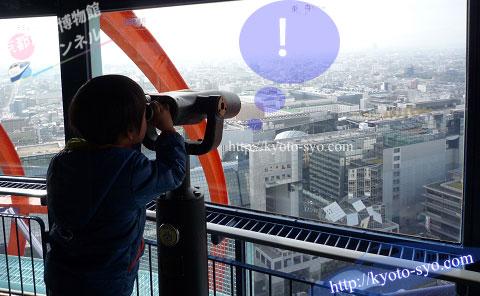 京都タワーの展望室