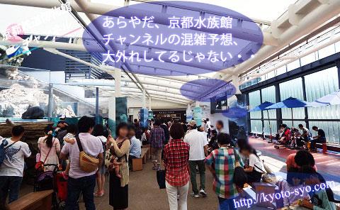 京都水族館の混雑