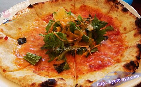 梅小路パークカフェのピザ
